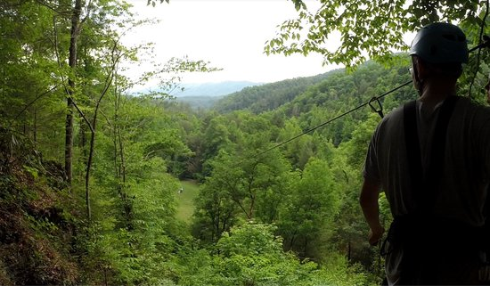 Foxfire Mountain Adventures: One of the 7 Zip Lines