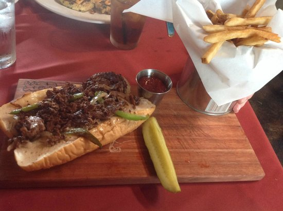 Philly Cheesesteak at A Fork and Knife, Old Ingram Loop