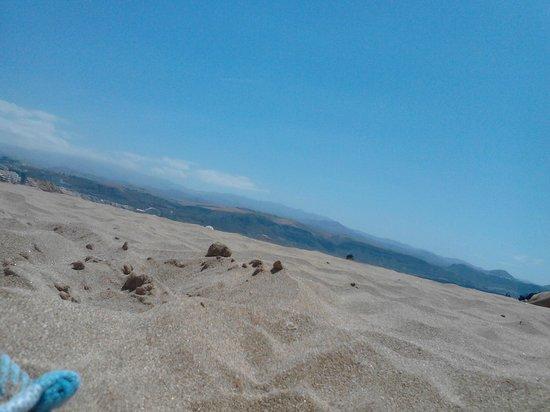 Playa de Las Canteras: vista desde la arena