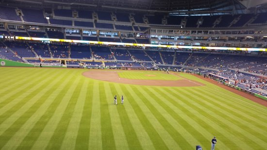 Marlins Park: outfield view
