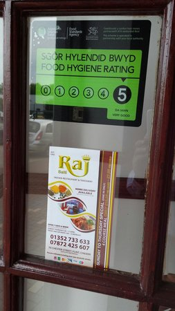 Raj Balti: Food hygiene rated 5 star