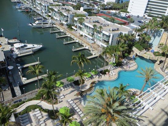 Hyatt Regency Sarasota: View of the pool from 7th floor