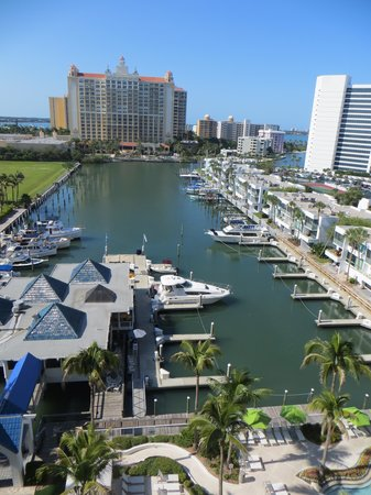 Hyatt Regency Sarasota: View over marina