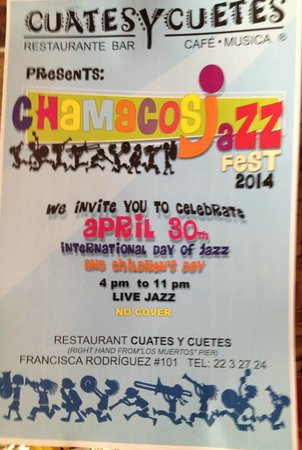 Chamacos JazzFest  2014 @ Cuates y Cuetes (poster)