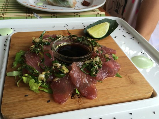 Aquana Beach Resort: Tuna Sashimi - Mothers Day Special