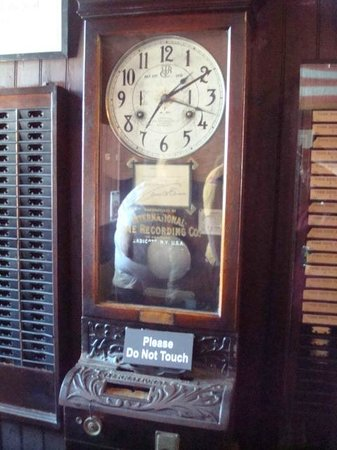 Thomas Edison National Historical Park: time clock