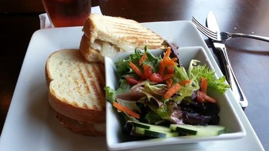 Radius Brewing Company: Pork Loin Sandwich with small salad side