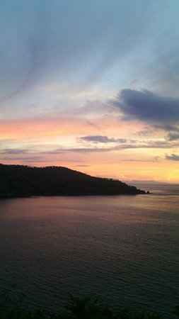 Rays of light at Malimbu Hill Sunset Point