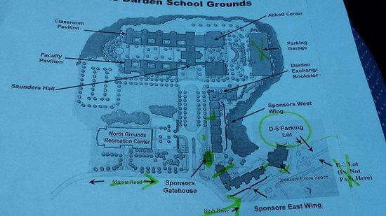 UVA Inn at Darden : The map