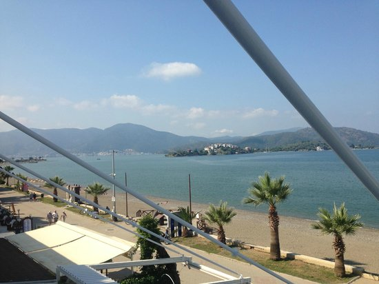 Delta Hotel: Outlook towards Fethiye from balcony