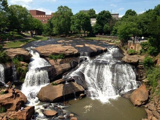 Falls Park on the Reedy: View from the suspension bridge
