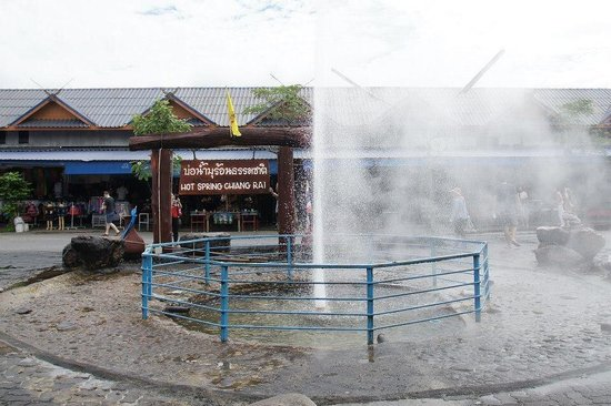 Pha Soet Hot Spring: Spray
