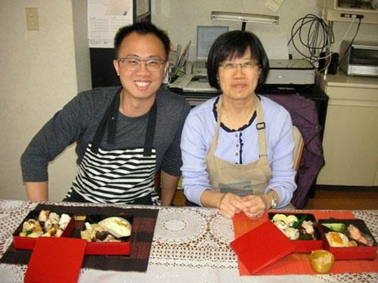 Japanese Cooking Experience with Yoshiko : Melvyn&Gina SG Apr.2014