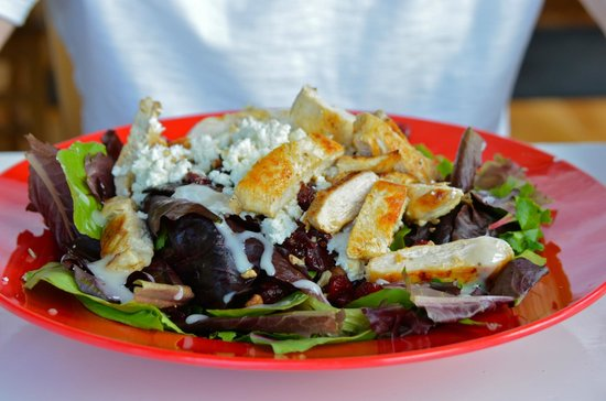 Stoney's Solomon's Pier: Salad w/ chicken, walnuts, cranberries, and blue cheese ( may have been goat cheese )