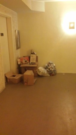 Shores of Panama Resort : Hallways with missing fire extinguisher. Trash stacked up and left there for week.