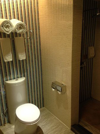 Shengshi Qianhe Hotel : Tastefully styled bathroom and fixtures