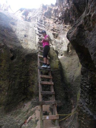 La Cueva del Indio: bajando a la cueva