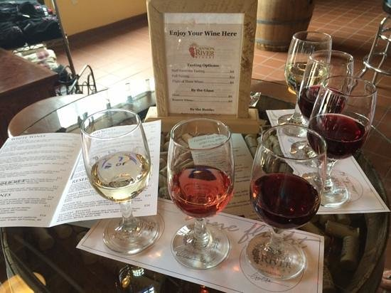 Cannon River Winery : Flight of 3 Wines