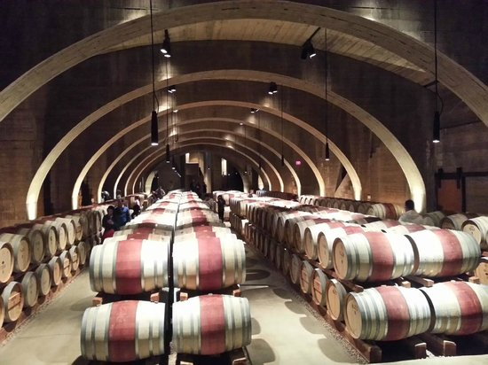 Mission Hill Family Estate Winery : Beautiful Wine Cellar!