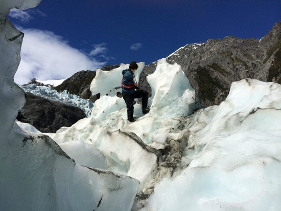 Franz Josef Glacier : On the ice