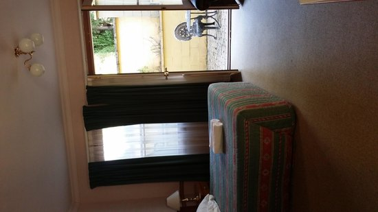 Pioneer Motel: room has double doors opening onto private courtyard