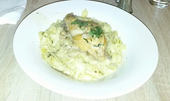 Citrus: Rabbit with pasta Alfredo