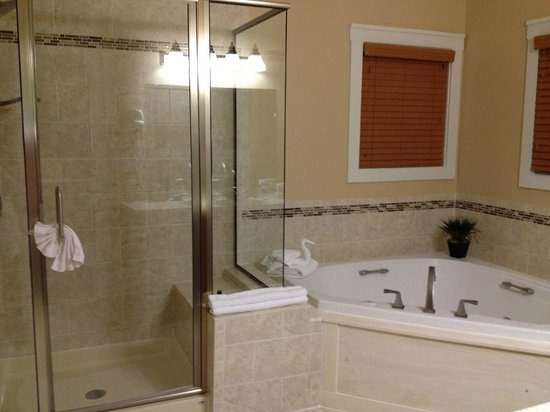 Massanutten Resort: Regal Vistas -Master bathroom - shower and jacuzzi