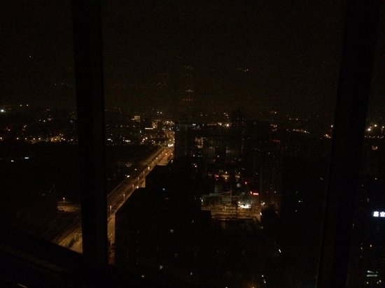 Fairmont Nanjing: View from room (night)