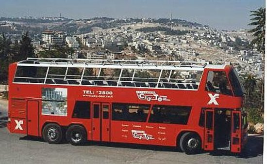 A Little House in Bakah : Bus 99- Panoramic tour of the City of Jerusalem-from hass promanade