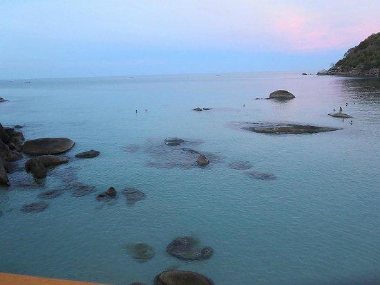 Lamai Beach : Crystal Bay at sunset