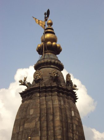 Krisnhna Mandir Temple (Chayasim Deval): Top of the temple