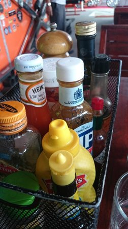 Nicky's Handlebar Hotel: all types of sauce