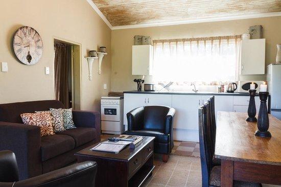 Birdsong Cottages: Kingfisher living area kitchen