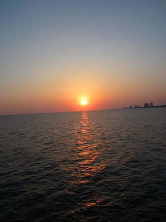 Sugar Sands Inn and Suites : Sunset from the pier