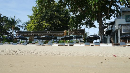 The Hammock Samui Beach Resort: the rooms from the beach