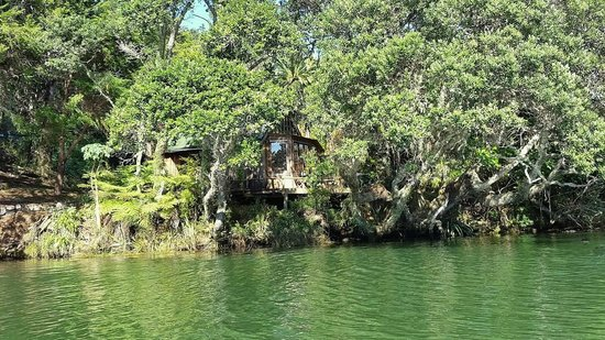 Magic Cottages at Takou River: view from the river