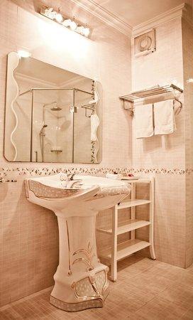 Hanoi City Palace Hotel : Bathroom
