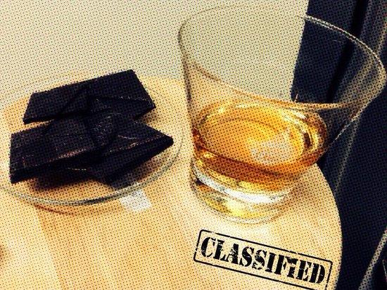 7 su 7: Oban whiskey con cioccolato fondente!