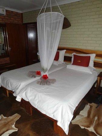 Kalahari Anib Lodge: The rooms are beautifully presented.