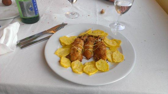 Ristorante Tirreno: Calamari gratinati al forno con patate