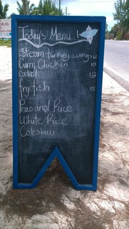 Three Queens Bar and Restaurant: Menu of the day
