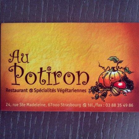 Au Potiron: Visitenkarte