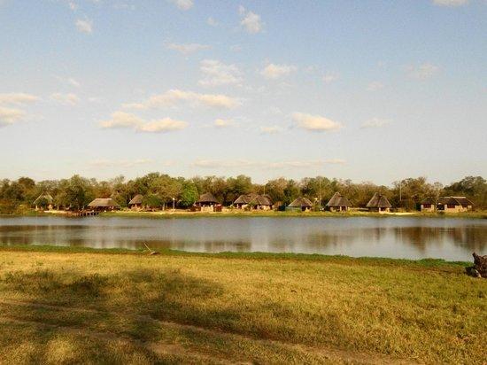 Arathusa Safari Lodge: View from the far side of the waterhole.