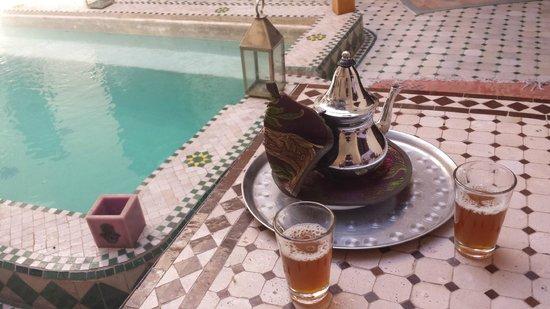 Riad la Croix Berbere: thé à la menthe