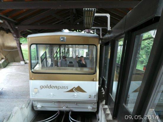 Le Mirador Resort & Spa: le funiculaire qui juxte l'hotel