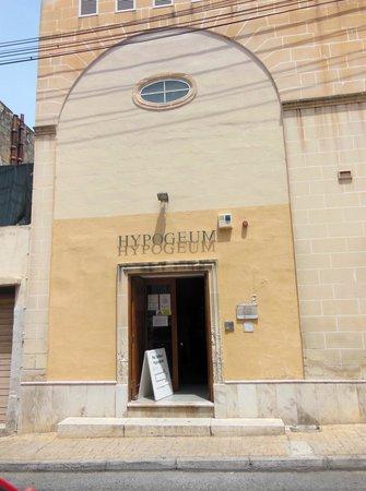 Hypogée de Ħal Saflieni : the entrance
