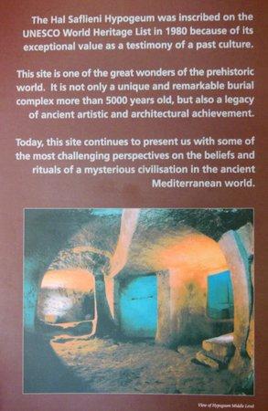 Hipogeo de Hal Saflieni: UNESCO world heritage