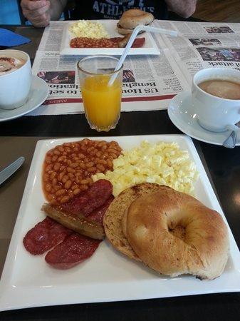 Bread and Bagels: 49QR breakfast.