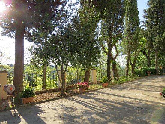 Villa I Barronci: Hotelgelände