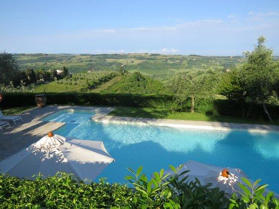 Villa I Barronci: Pool / Aussicht